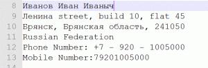 Готовим свой адрес в редакторе Notepad++